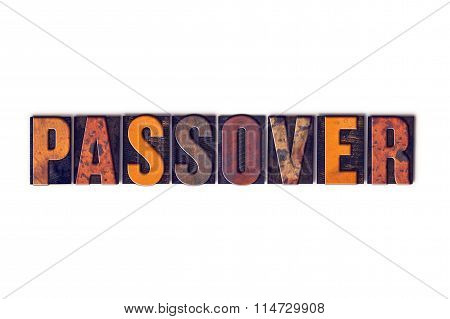 Passover Concept Isolated Letterpress Type