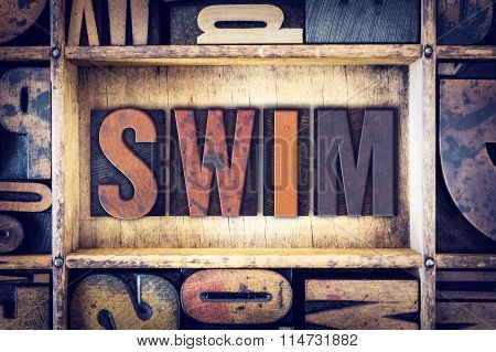 Swim Concept Letterpress Type