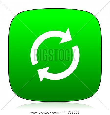 reload green icon for web and mobile app