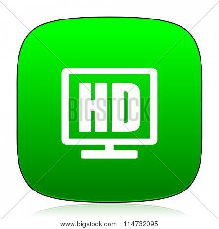 hd display green icon for web and mobile app