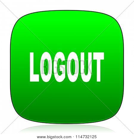 logout green icon for web and mobile app