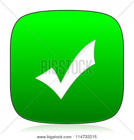 accept green icon for web and mobile app
