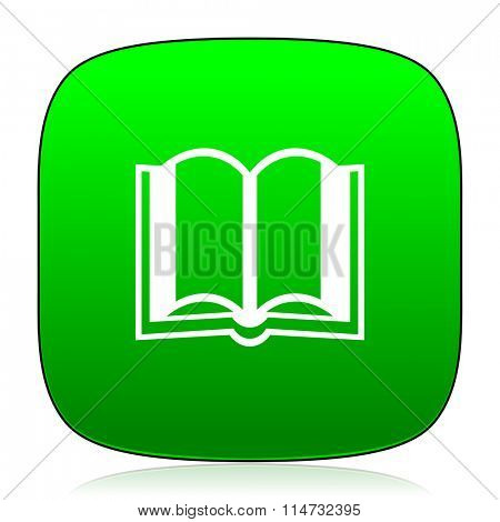 book green icon for web and mobile app