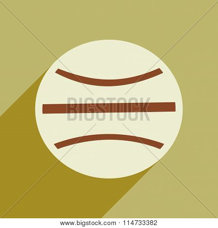 Flat icon with long shadow space planet