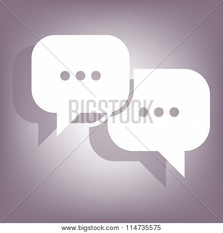 Icon with two speech bubbles
