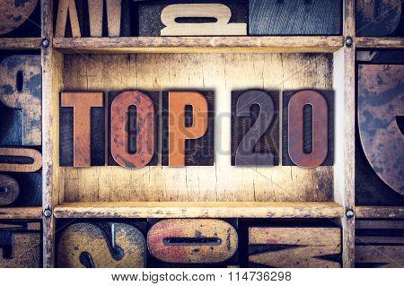 Top 20 Concept Letterpress Type