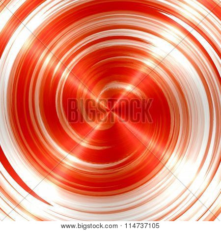 Abstract Orange Spiral Stainless Steel Background