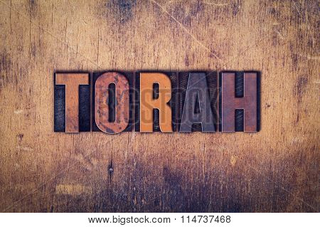 Torah Concept Wooden Letterpress Type