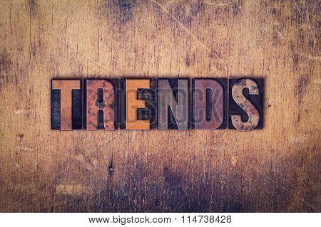 Trends Concept Wooden Letterpress Type