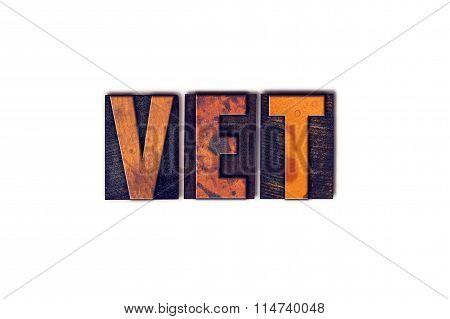 Vet Concept Isolated Letterpress Type