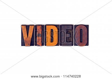 Video Concept Isolated Letterpress Type