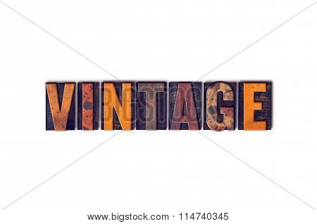Vintage Concept Isolated Letterpress Type