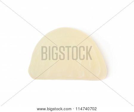 Lemon shaped candy isolated