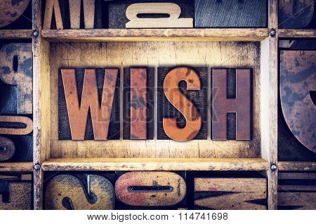 Wish Concept Letterpress Type