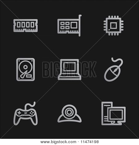 Computer Web Icons, Grey Mobile Style