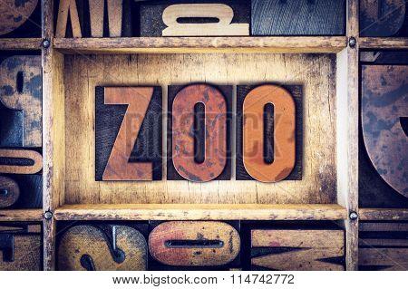 Zoo Concept Letterpress Type