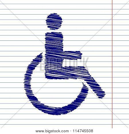 Disabled sign illustration