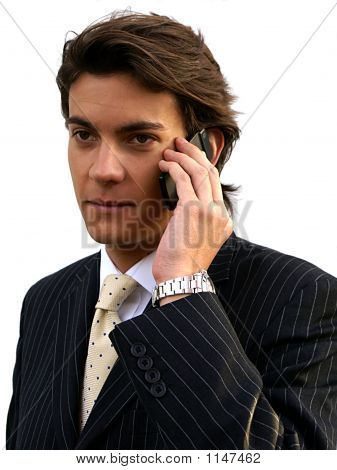 Young Male With Mobile Phone