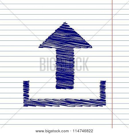 Upload sign illustration