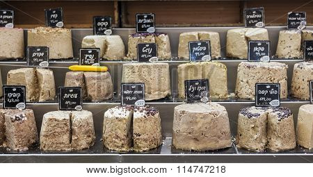 Halva At Machane Yehuda Market. Jerusalem, Israel.