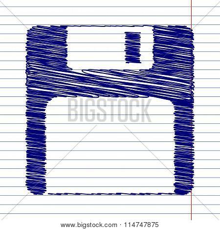 Floppy disk sign