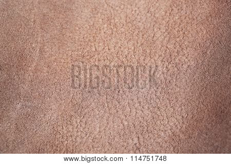 Brown leather wrong side texture background