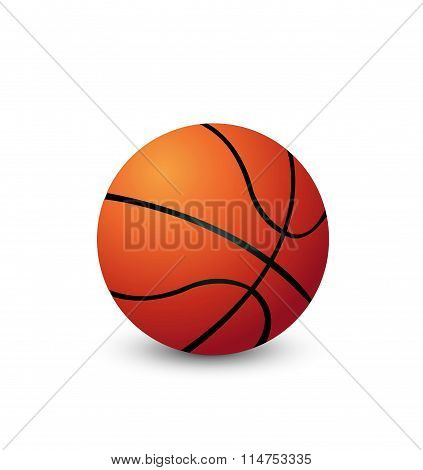 Vector Basketball isolated on a white background