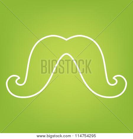 Moustache line icon