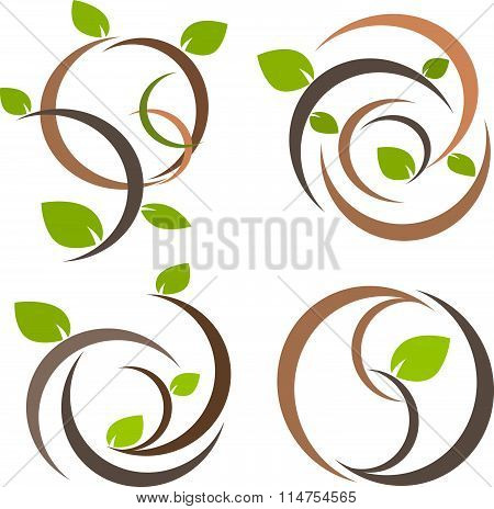 Nature tree symbol illustration