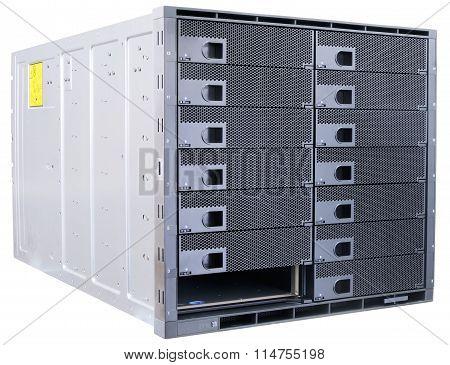 Blade Servers On White