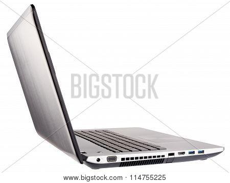 Open Laptop Rear Isometric View