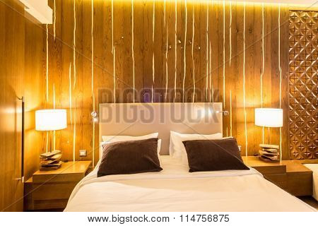 Shahdag - FEBRUARY 8, 2015: Room in Park Chalet Hotel on February