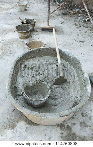 Plaster Cement Concrete Poured Mixer For Residential Building Construction