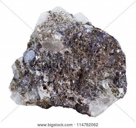 Sphalerite (zinc Blende) Mineral Stone Isolated