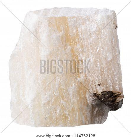 Gypsum (alabaster) Mineral Stone Isolated