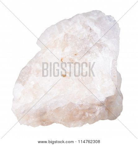 Baryte (barite) Mineral Stone Isolated On White
