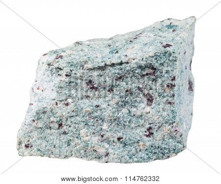 Trachyte (trachyt) Mineral Stone Isolated On White