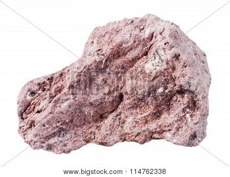 Tuff (ash-tuff) Mineral Stone Isolated On White