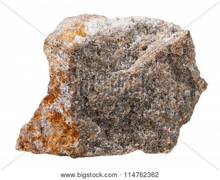 Specimen Of Quartzite Mineral Stone Isolated