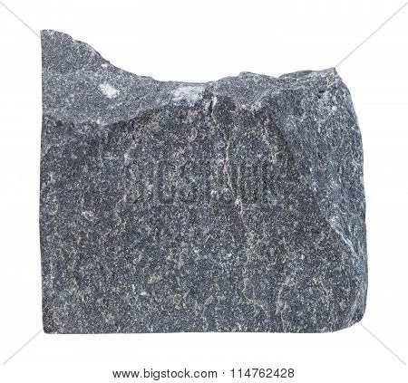 Slate Mineral Stone Isolated On White