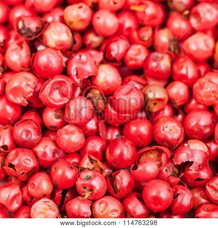 Pile Of Red Pepper Peppercorns