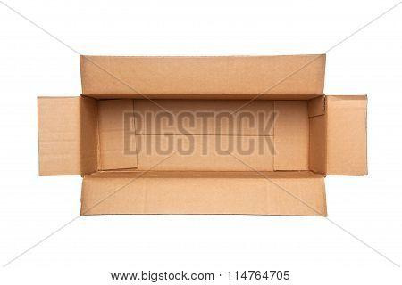 Opened Retangular Cardboard Box