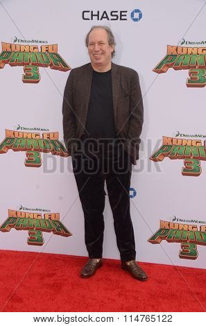 LOS ANGELES - JAN 16:  Hans Zimmer at the Kung Fu Panda 3 Premiere at the TCL Chinese Theater on January 16, 2016 in Los Angeles, CA