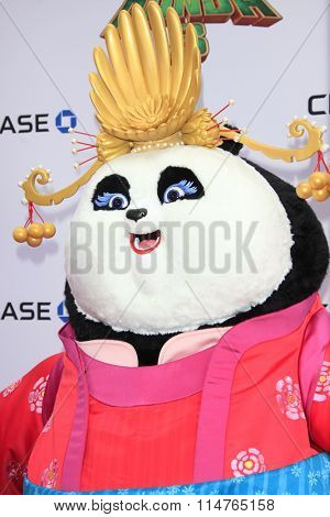 LOS ANGELES - JAN 16:  Mei Mei, Animated Character at the Kung Fu Panda 3 Premiere at the TCL Chinese Theater on January 16, 2016 in Los Angeles, CA