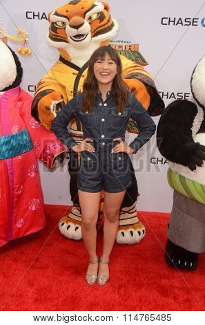 LOS ANGELES - JAN 16:  Haley Tju at the Kung Fu Panda 3 Premiere at the TCL Chinese Theater on January 16, 2016 in Los Angeles, CA