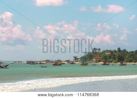 Beautiful Tropical Beach White Sand, Turquoise Ocean Water And Blue Sky
