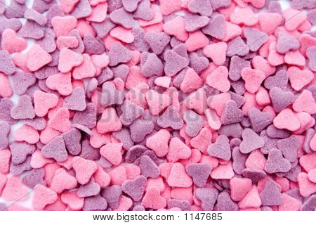 Pink And Purple Hearts
