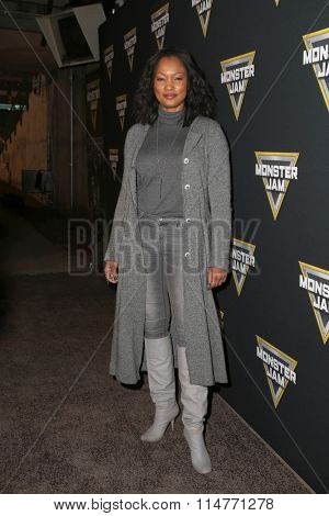LOS ANGELES - JAN 16:  Garcelle Beauvais at the Monster Jam Celebrity Night at the Angels Stadium on January 16, 2016 in Anaheim, CA