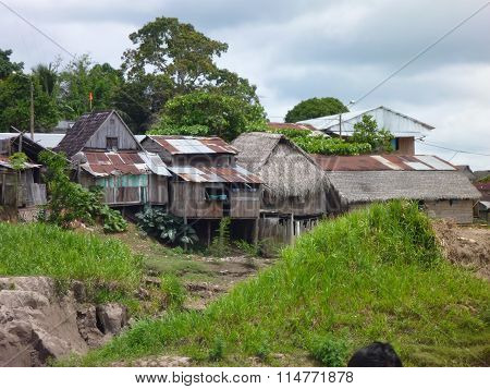 Village At The River Amazonas