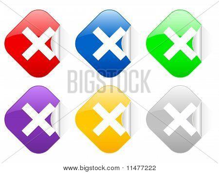 Cancel Square Stickers